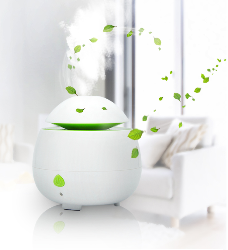 Aroma Light Diffuser 50ml Round Pastic White Ultrasonic Electric Scented Office for Dry Air