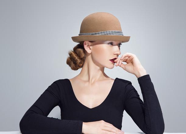 High Quality Camel Wool Felt hat