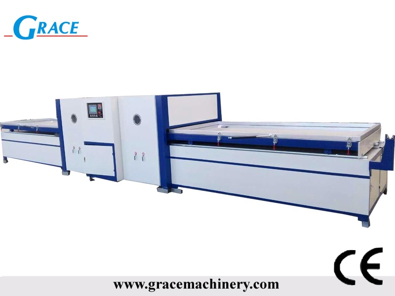 1325 automatic cnc vacuum press machine for wood door
