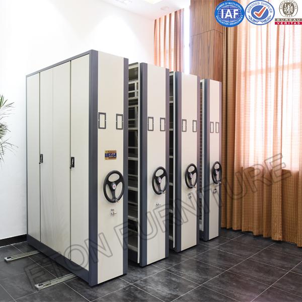 Library Steel Furniture Mobile Documental Storage Shelving Cabinet
