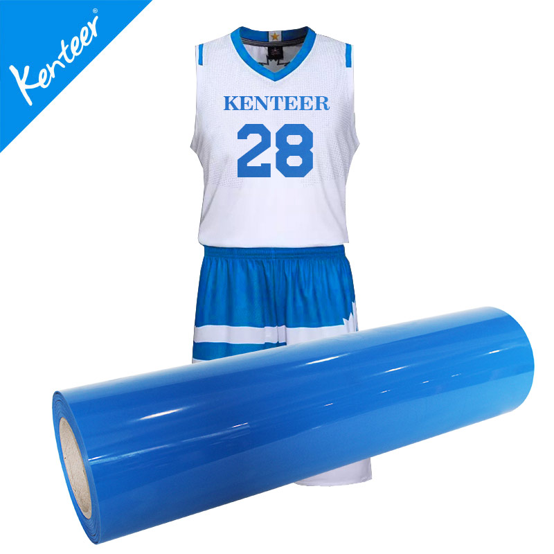 Kenteer low price PVC heat transfer vinyl for clothing 0.525m/roll