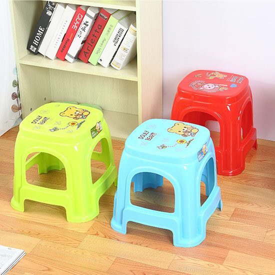 Home furniture cute baby plastic stool