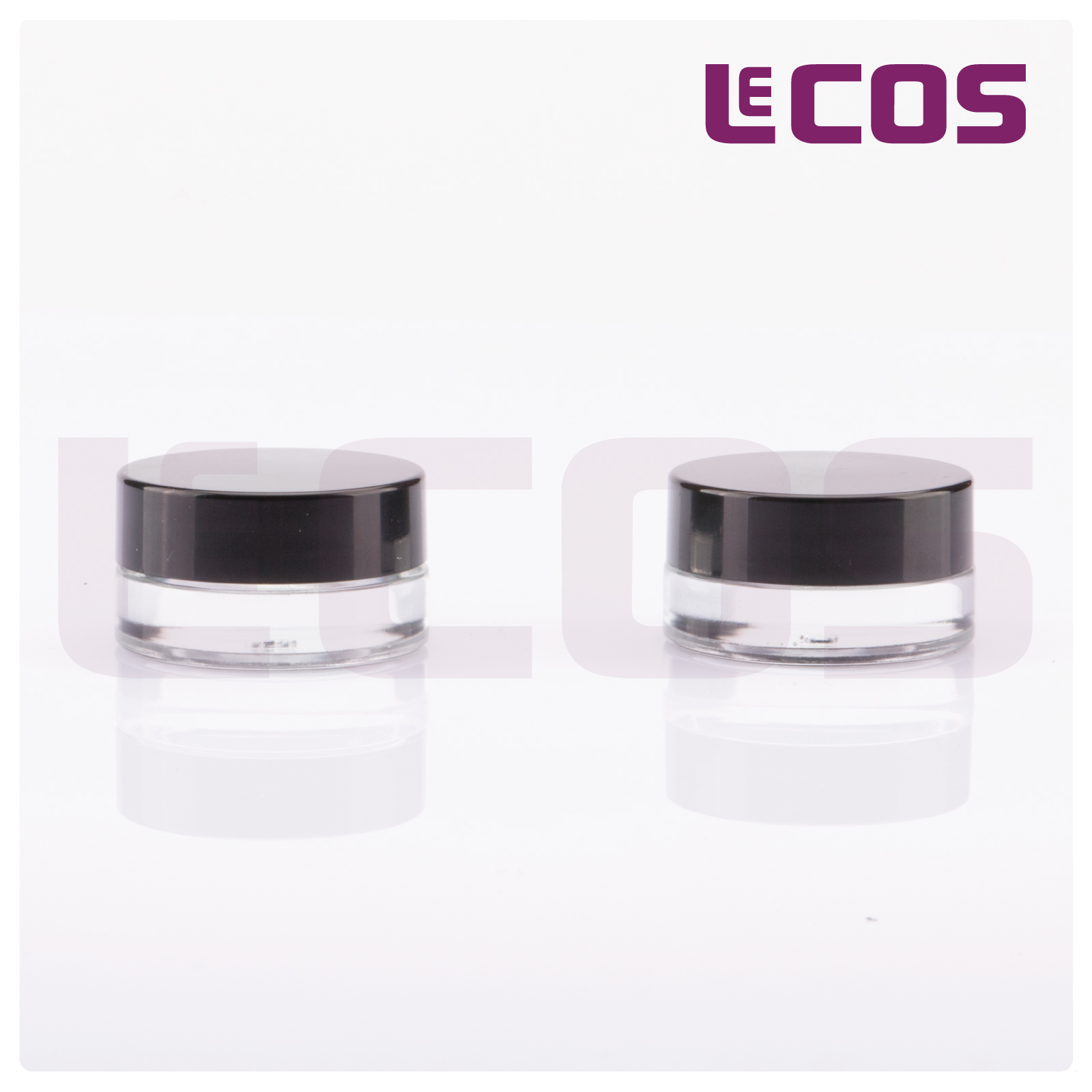 5g Empty Cosmetics Glass Jar with Black Cap