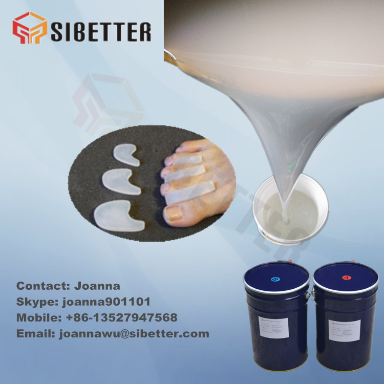 Two Parts Liquid Silicone Gel Raw Material for Gel Toe Separator