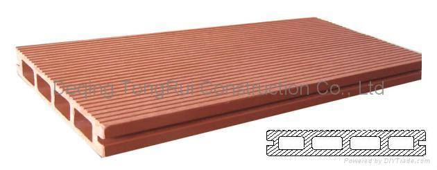 Wood Polymer Composite Board : Wood plastic composite decking board deqing tongrui