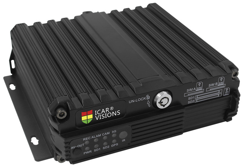 4CH 720P AHD Dual SD card storage Mobile DVR
