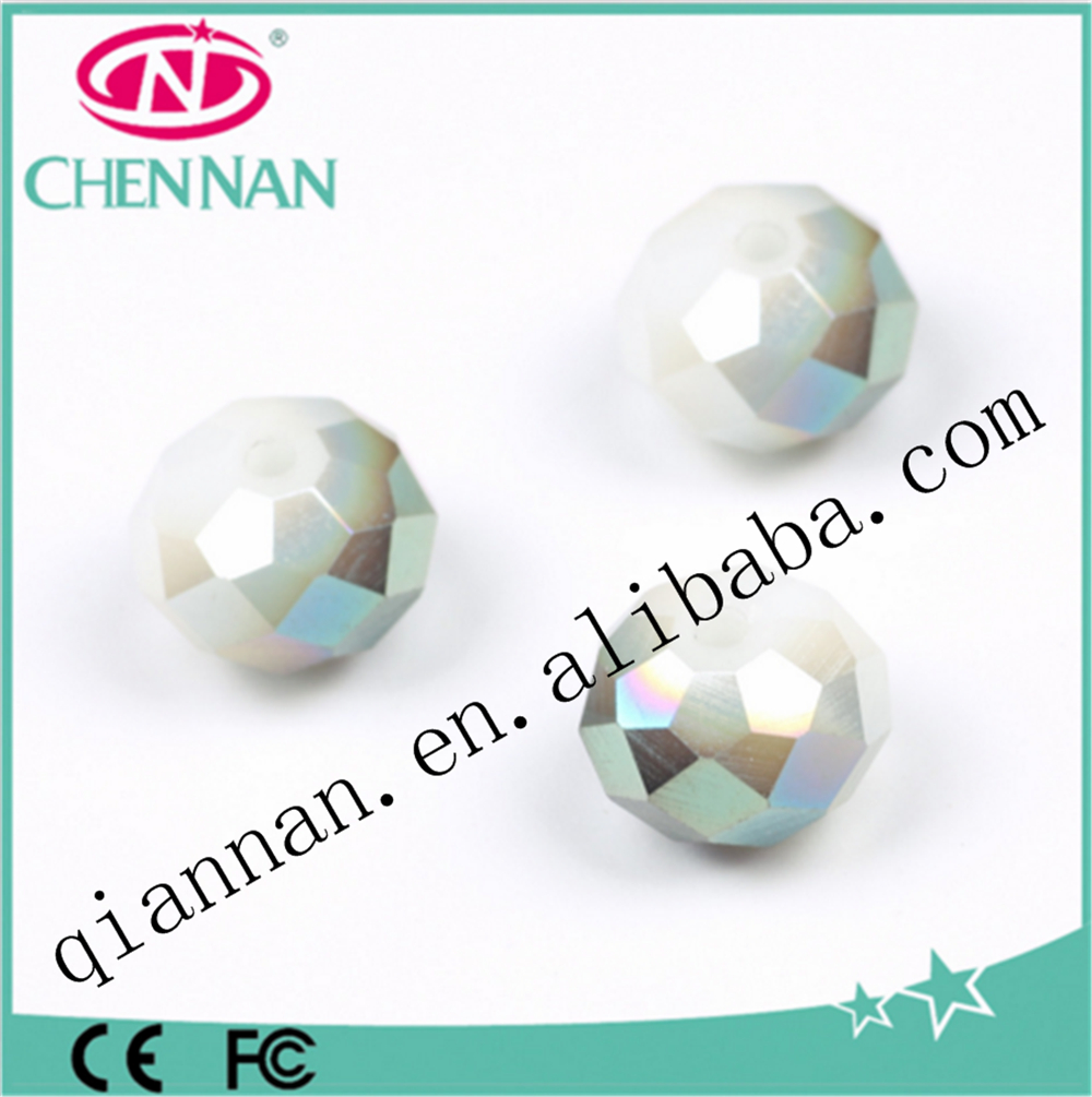 yiwu fashion faceted rondelle crystal glass beads accessory for jewelry