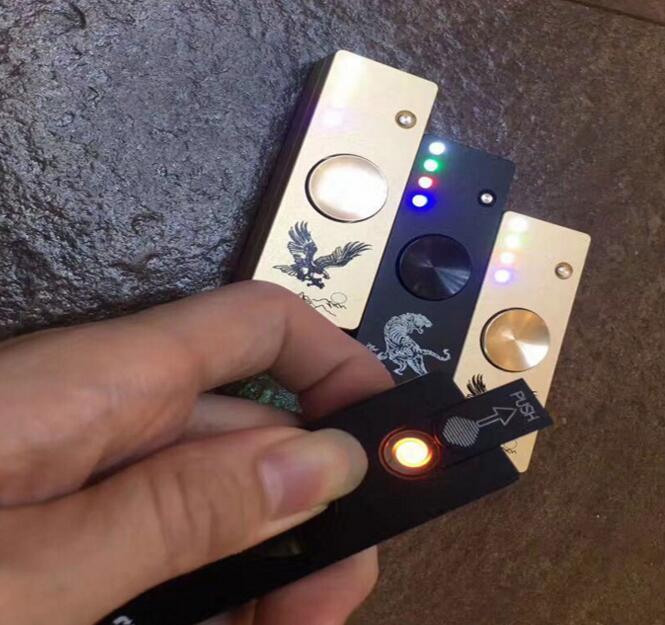 2017 Newest Metal with LED Light Spinner USB Cigarette lighter Fidget Spinner