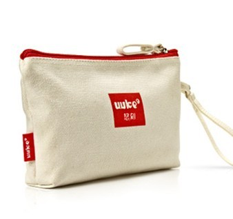 Excellent designed canvas cosmetic pouch