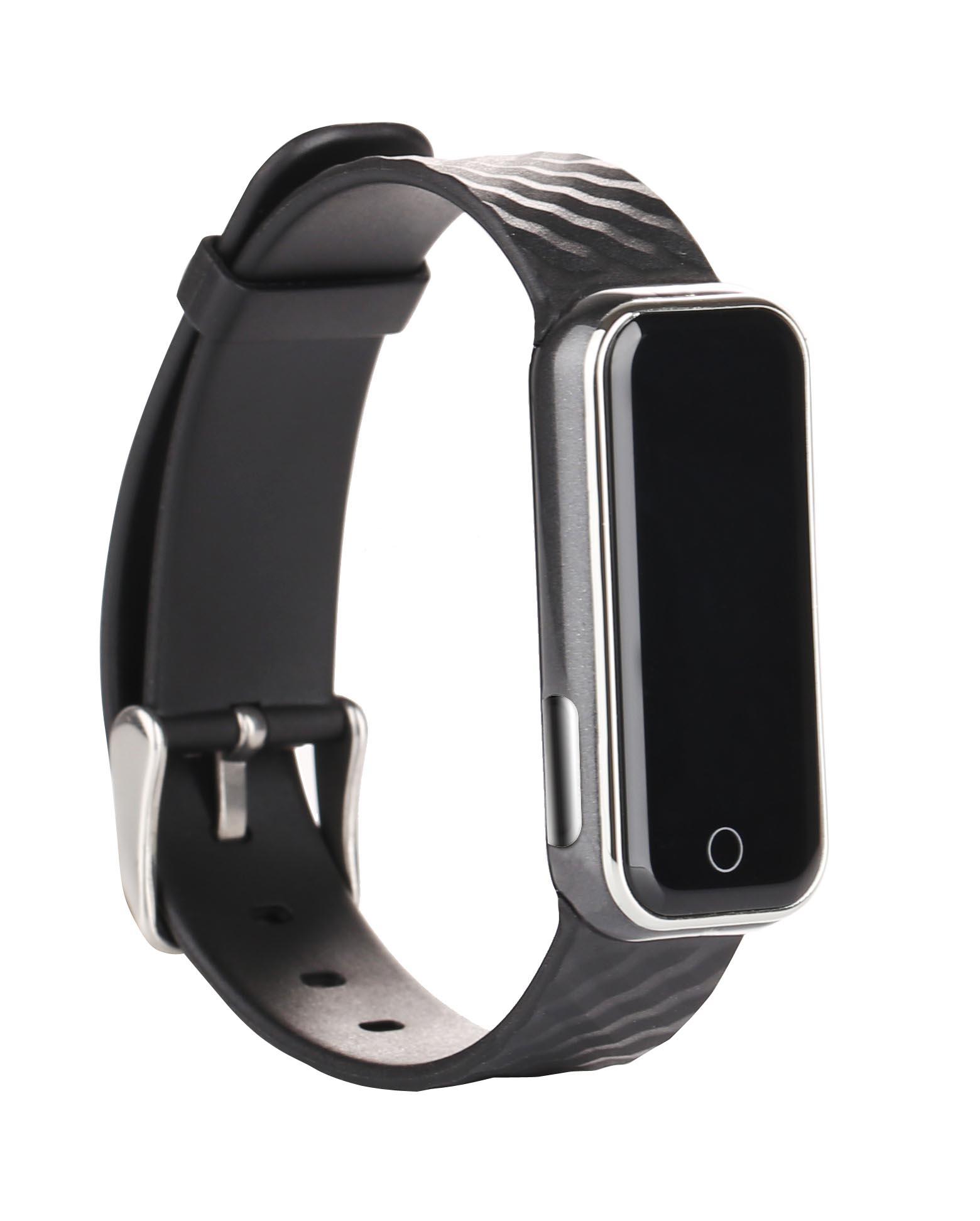 QS50 bluetooth smart wristband pedometer ecg electrode heart rate watch