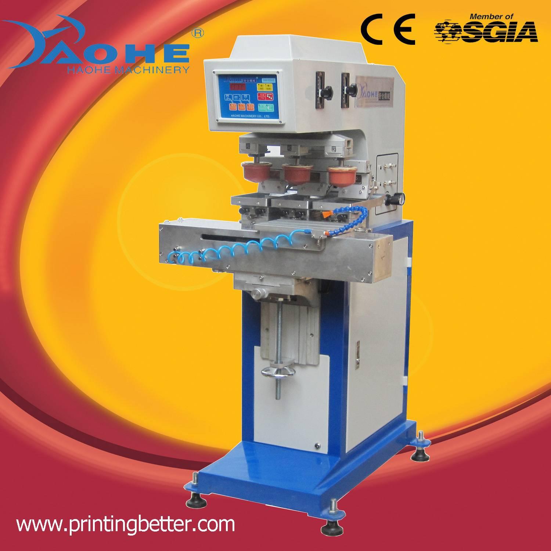 Tagless Garment Label Printing 3 Color Pad Printer HM 160C
