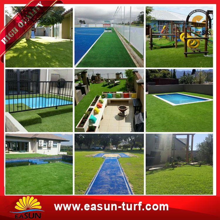 cheap residential artificial turf grass for garden landscape-Donut