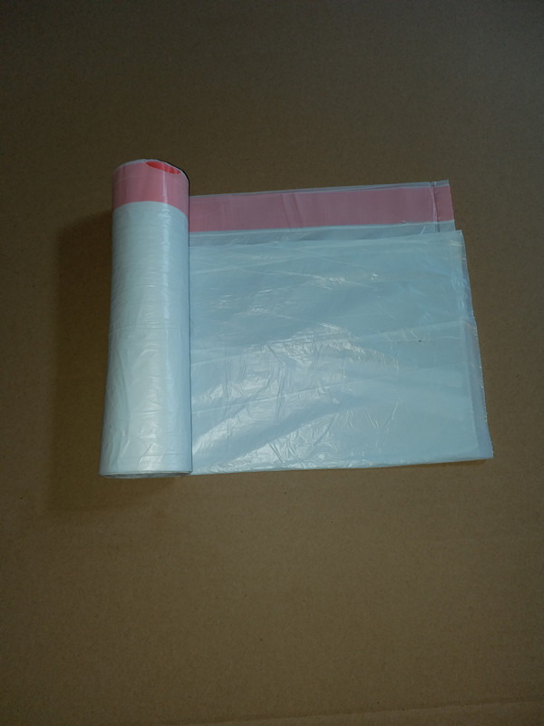 hdpe scented drawstring trash bag on roll