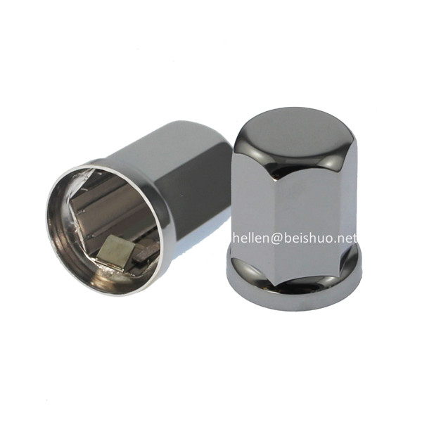 33mm stainless steel chrome Truck wheel trim cover wheel nut covers for car/bus/truck in Japan