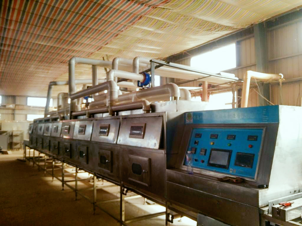 Tunnel type continuous microwave drying and sintering equipment