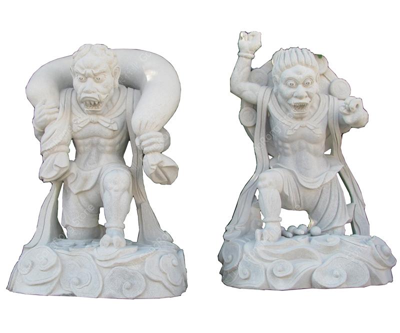 Stone Sculpture Wind God, Thunder God G633