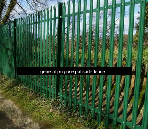 general purpose palisade fence