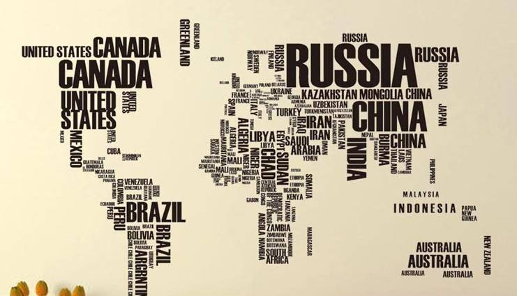Large size letters world map removable vinyl decal art mural home large size letters world map removable vinyl decal art mural home decor wall stickers 0449 gumiabroncs Image collections