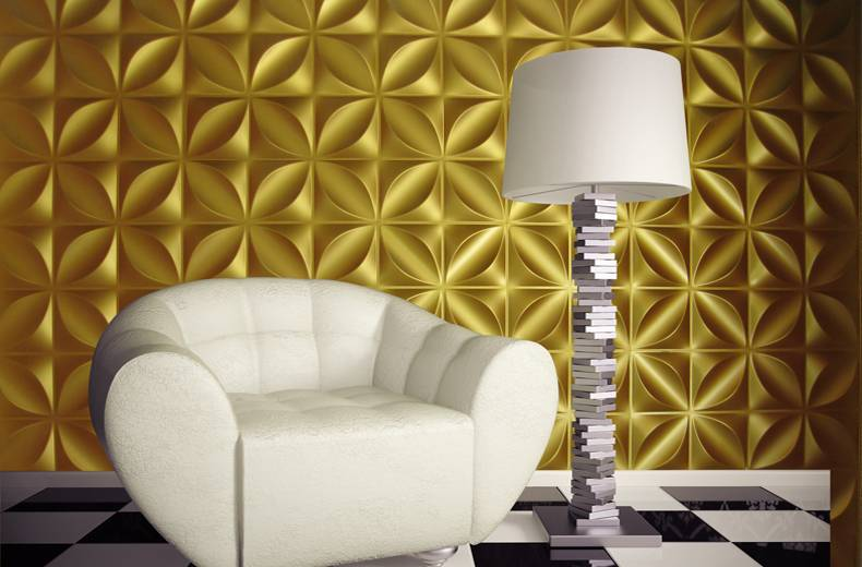 Eco friendly PUV Textured 3D Glue on Wall Panel Cladding modern ...