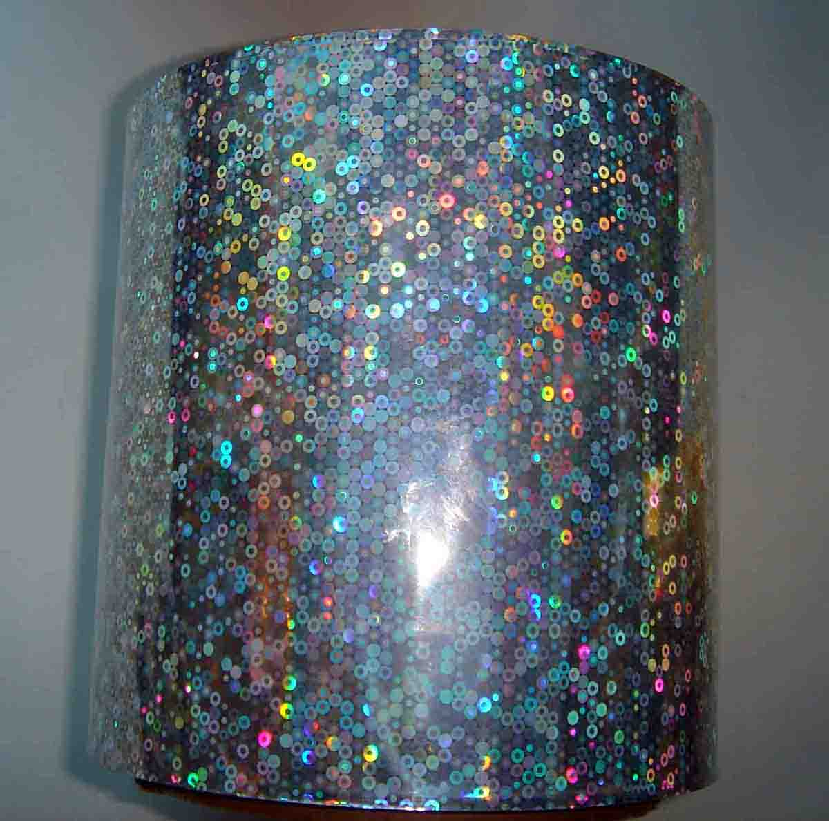 Metallized BOPP PET PVC holographic paper hologram wrapping paper