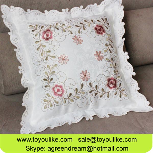 Jacquard Embroidered Decorative Cushion Cover for Sofa