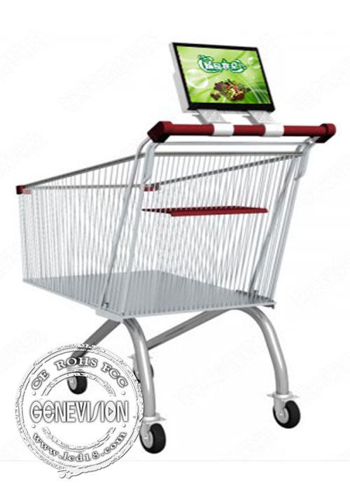 12.1 Inch Supermarket Shopping Trolley Digital Signage Advertising Rechargeable Battery