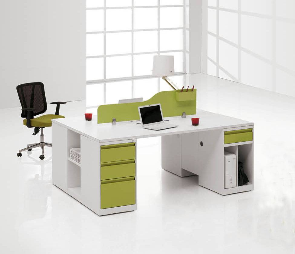 Office Desk Design office desk with partition. wood traditional office workstation