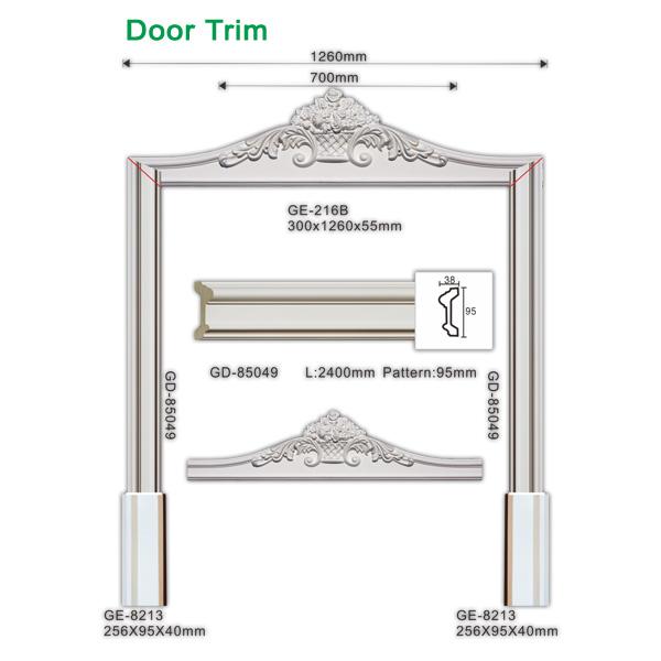 Damp-proof polyurethane interior door frames