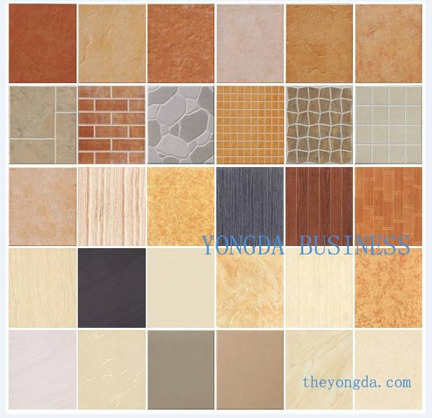 Color ceramic tiles