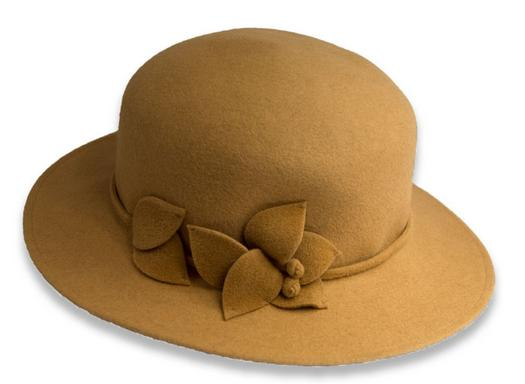 Autumn 100% wool felt bowler hat for women