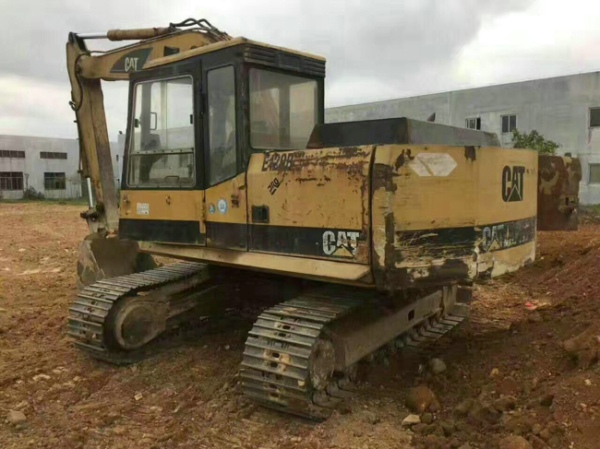 Used Caterpillar E120B crawler excavator Japanese original good condition for cheap sale