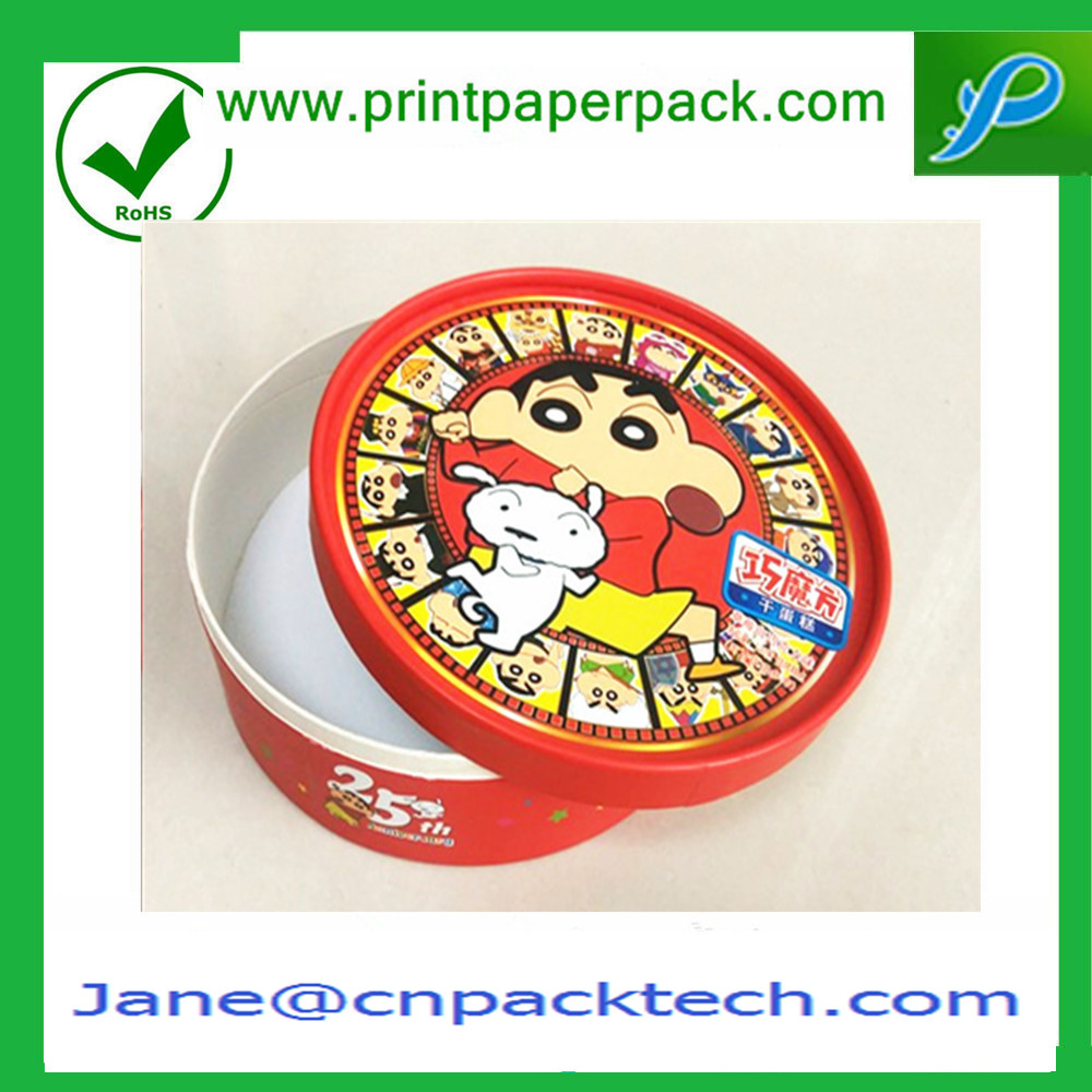 Custom Tube Paper Box Fancy Cute Packaging Round Box