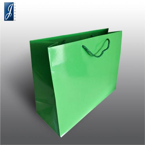 Currency big green packaging bag