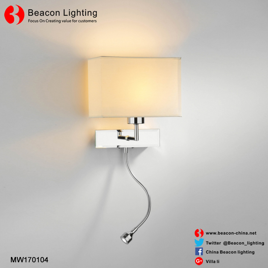 Hot sale steel hotel wall lights stainless steel hotel bed reading table lights for hotel rooms