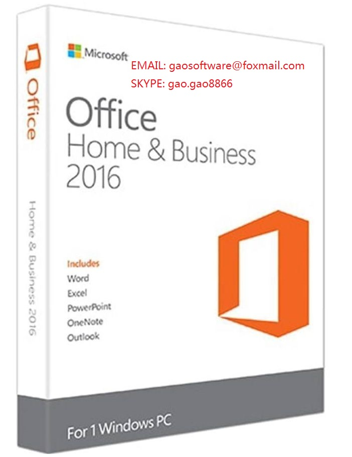 office 2016 home and business pkc key cards 100% online activation
