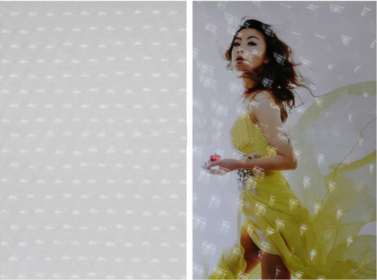 Customized Transparent 3D Laminating Film For Photo Album Decoration