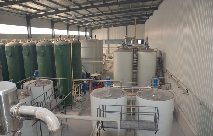 Corn glucose syrup production plant