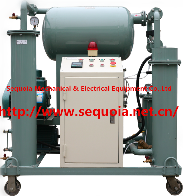 electrical insulating oil filter for high tension transformer