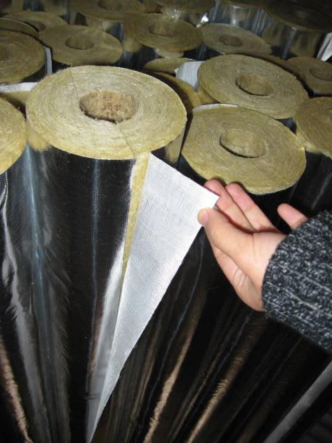 Rock wool pipe insulation juneng insulation materials co for Mineral wool pipe insulation
