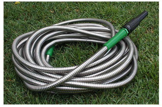 Metal Garden Hose with Stainless Steel Outer Hose and PVC Inner Hose