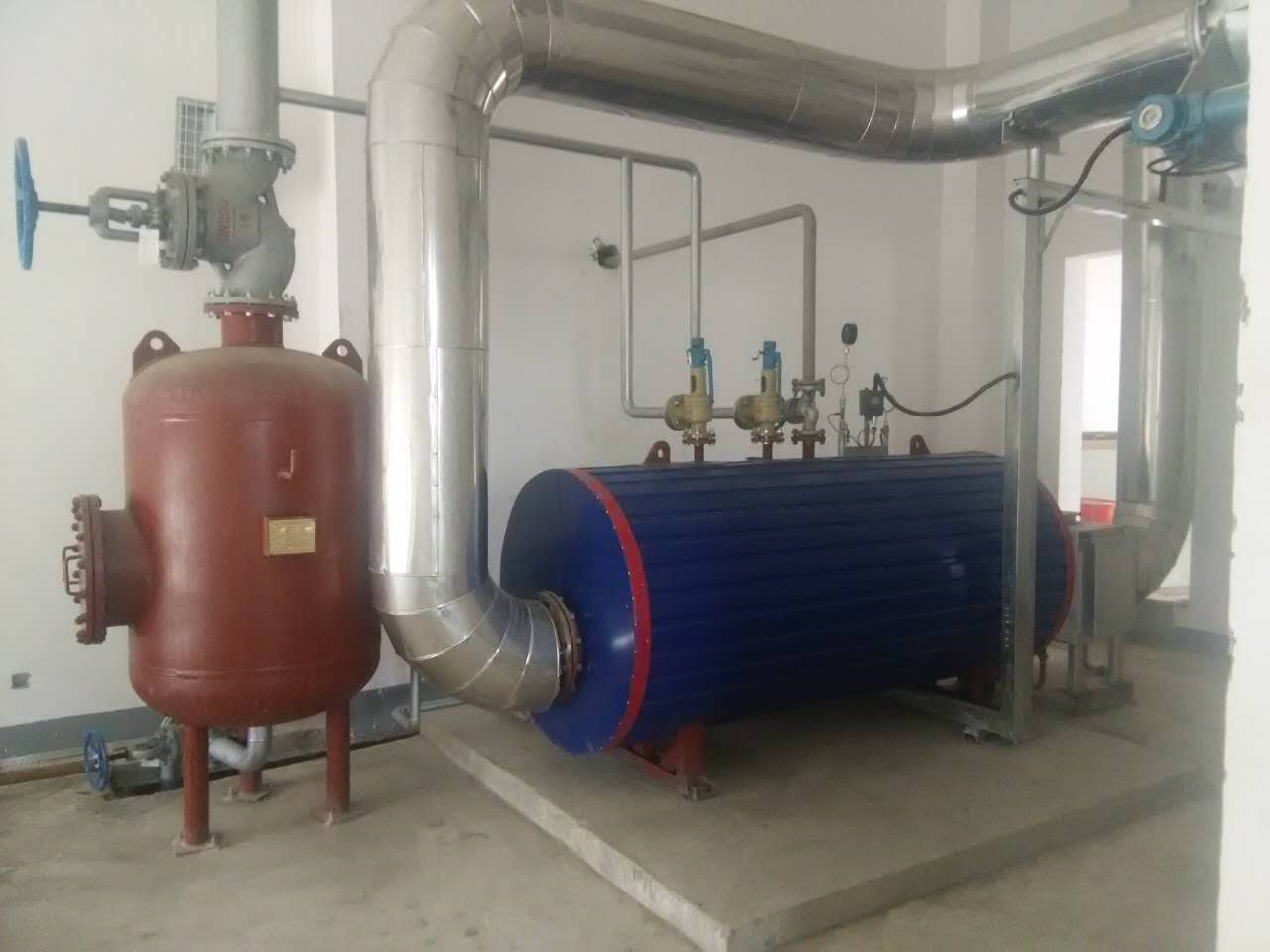 Exhaust Gas Boiler High Temperature Exhaust Gas Recovery System to Generate Steam