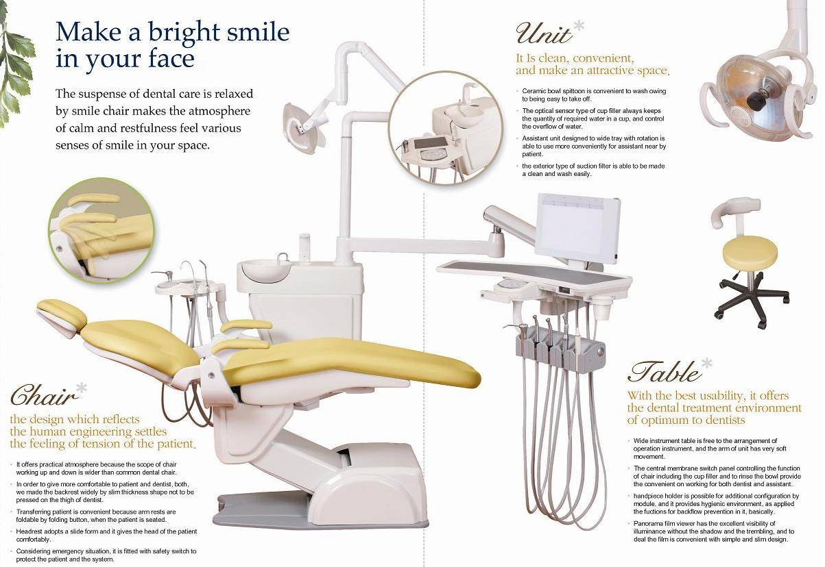 Parts of dental chair - Manual Dental Chair