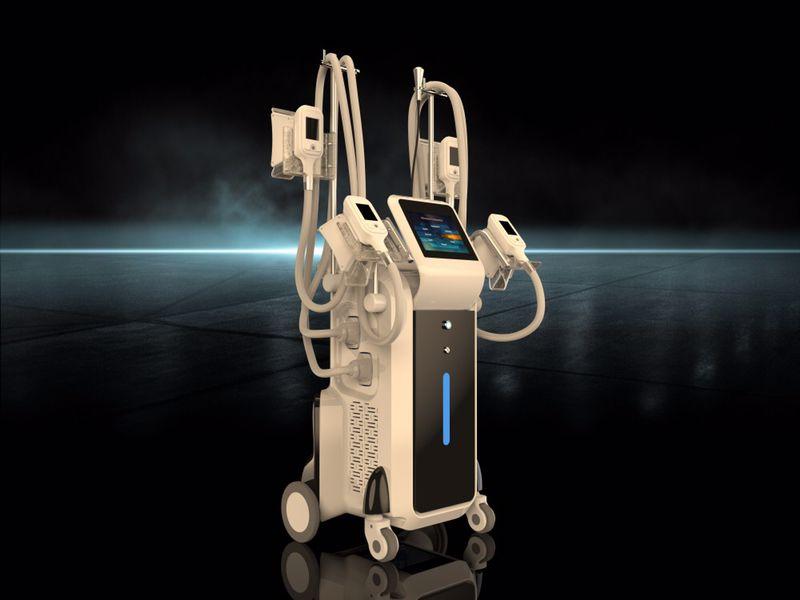 Cryolipolysis fat freeze machine 4 cryo handles can work together