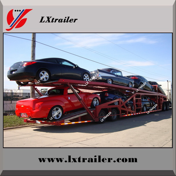 2 double axles 16meters 8 units transporting SUV car carrier semi trailer for sale