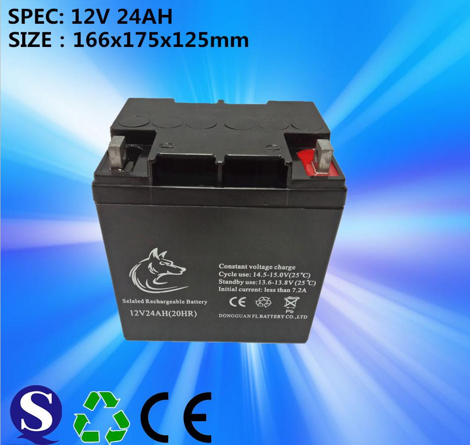 Lead Acid Battery GEL 12v 24ah Battery For Solar System Make In China Feilang