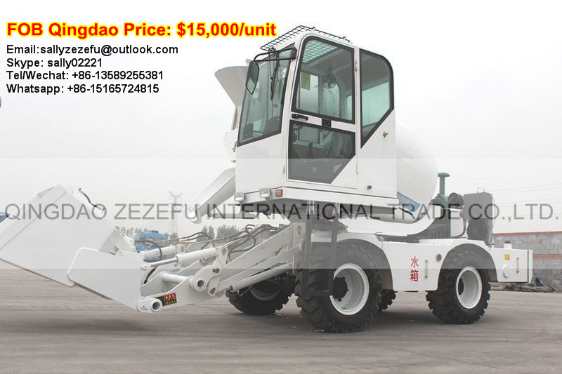 1M3 self loading cement mixer truck