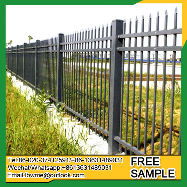 Cheap price Canada decorative picket fence UK wrought iron fence factory
