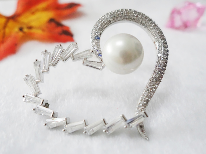 Heart-shaped pearl set auger shoes flower fashionable accessories Shoes accessories accessories