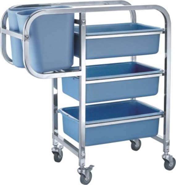 Square Tube Collection Trolley