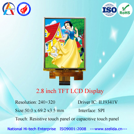 factory OEM 1.22 inch to 10.1 inch tft lcd display